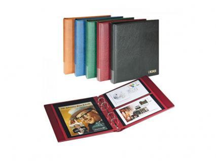 LINDNER 1403-W Doppel FDC Album Ringbinder Rondo Regular Weinrot - Rot + 10 Hüllen MU1404 geteilt 2 Taschen