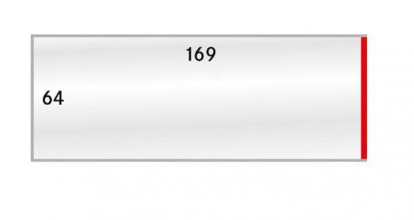 100 LINDNER 876P Schutzhüllen Klarsichthüllen Für K7ES Einlegefolie Euromünzen KMS 64x169 mm