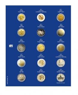 1 x SAFE 7822-20 TOPset Münzblätter Ergänzungsblätter Münzhüllen Münzblatt mit farbigem Vordruckblatt für 2 Euromünzen Gedenkmünzen - 2017 - 2018
