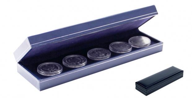 SAFE 7918 Dunkelblaues Münzetui Sammeletui Etui mit Schmuckprägung - Für Münzen & Medaillen Nutzfläche 220 x 60 mm zum eindrücken Für Geocoins & TBs Travel Bugs & Geochaing