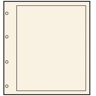 10 SAFE 490 Blankoblätter Compact A4 Chamois mit 4 er Lochung 235 x 305 mm mit schwarzem Rand