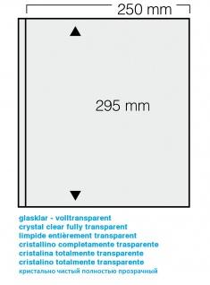 1 x SAFE 821 Einsteckblätter GARANT ohne Einteilung transparent glasklar 1 Tasche 250 x 295 mm Für Briefmarken Banknoten Postkarten Briefe