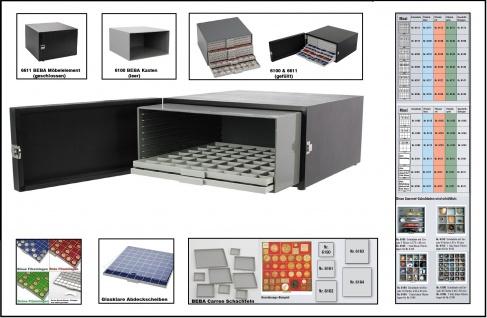 SAFE 6100 + 6611 BEBA Münzkasten Sammelkasten MAXI + schwarzes Möbelelement leer zum selbst befüllen mit Schubladen 1 -3 fach tief