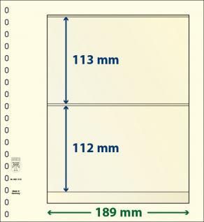 1 x LINDNER 802216 T-Blanko-Blätter Blankoblatt 18-Ring Lochung - 2 Taschen 113 / 112 x 189 mm