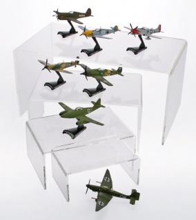 SAFE 5291 ACRYL Präsentationsbrücke Deko Aufsteller 190 x 125 x 85 Für Modellbau Militaria - Orden Abzeichen - Zinnsoldaten - Linoliumfiguren