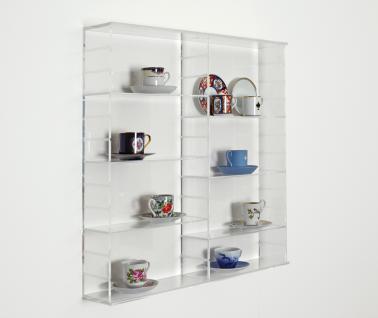 SAFE 5210 ACRYLGLAS Sammel Vitrinen Universal XL Modul A Maße 50 x 50 x 10 cm + 2 x 4 Zwischenböden - Für Porzellan Figuren Sammeltassen Gläser Miniaturen Aniquitäten