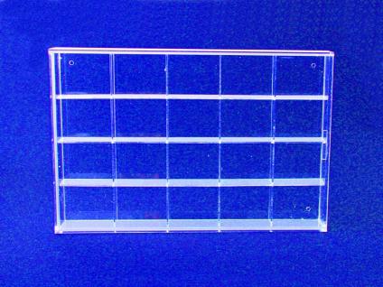 SAFE 5257 ACRYLGLAS Sammelvitrinen Kleinvitrinen Setzkasten Universal 20 Fächern 57 x 47 x 42 mm Für Mineralien - Fossilien - Bernstein - Kristalle - Schnecken - Muscheln - Vorschau 4