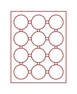 LINDNER 2912 Münzbox Münzboxen Rauchglas 12 x 63 mm Münzen in Münzkapseln - Vorschau 1
