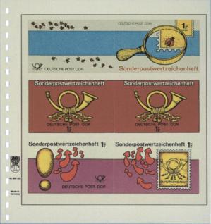 1 x LINDNER 802322 T-Blanko-Blätter Blankoblatt 18-Ring Lochung - 3 Taschen 76 / 77 / 77 x 233 mm - Vorschau 2