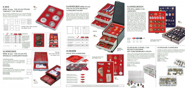 Lindner 2856 D-Box Münzboxen Sammelboxen für 6 Münzen 85 x 85 x 22 mm dunkelrot Rauchglas - Vorschau 4