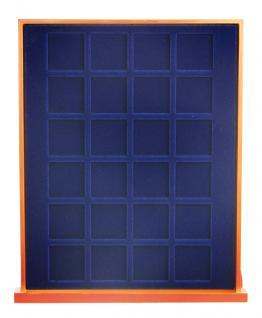 SAFE 6833 Nova Exquisite Holz Münzboxen Schubladenelemente 24 Eckige Fächer 33 mm Für Münzen bis 26 - 27 - 28 mm in Münzkapseln und 10 DM 10 - 20 Euro Gedenkmünzen - Vorschau 2