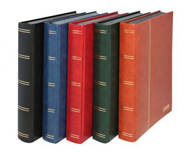 """Lindner 1168 - R Briefmarken Einsteckbücher Einsteckbuch Einsteckalbum Einsteckalben Album """" Standard """" Weinrot Rot 32 schwarze Seiten - Vorschau 2"""