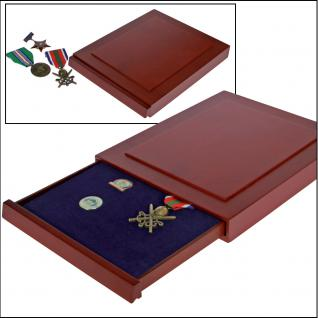 SAFE 6860 Nova Exquisite Holz Münzboxen ohne Unterteilung 233x183 mm Für gr. Münzen Medaillen Barren