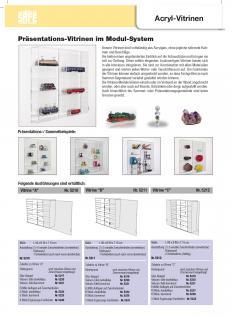 SAFE 5210 ACRYLGLAS Sammel Vitrinen Universal XL Modul A Maße 50 x 50 x 10 cm + 2 x 4 Zwischenböden - Für Mineralien Fossilien - Vorschau 4