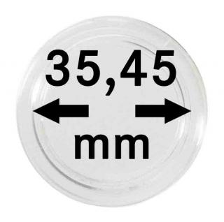 2 x Lindner S22703545P Spezial Münzkapseln Kapseln EXTRA HOCH Innen-Ø 35, 45 mm, Innenhöhe 5, 07 mm für Geocoins & TBs Travel Bugs & Geocaching