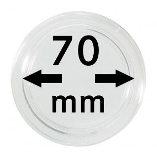 1 x Lindner S22707000 Spezial Münzkapseln Kapseln EXTRA HOCH Innen-Ø 70 mm, Innenhöhe 5, 5 mm Ideal für Geocoins & TBs Travel Bugs & Geocaching