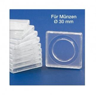 10x SAFE 3130 SAFE Quadratische Münzkapseln Münzdosen Square 50x50 mm glasklar für Münzen bis 30 mm - Ideal für 5 Euro Österreich - 5 DM 5 Mark DDR - 1/2 OZ Libertad Gold - 2 ÖS
