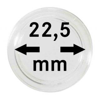 100 LINDNER Münzkapseln / Münzenkapseln Capsules Caps 22, 5 mm 2251225