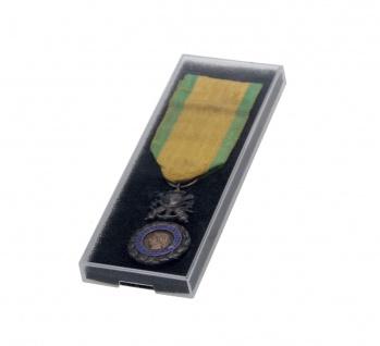 SAFE 8100 Kunsstoffetuis Sammeltuis + Schaumstoffeinlage 132x47x10 mm Für Orden Militaria Medaillen