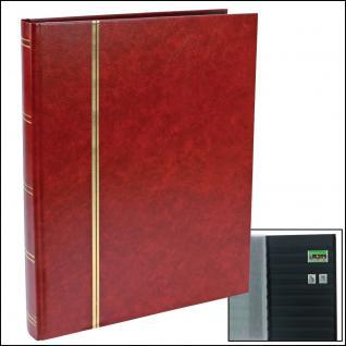 SAFE 157-1 Briefmarken Einsteckbücher Einsteckbuch Einsteckalbum Einsteckalben Album Weinrot - Rot 32 schwarze Seiten
