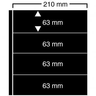 1 x SAFE 424 Einsteckblätter Compact A4 CLIPFIX mit 4 Klemmstreifen 210 x 63 mm Für Banknoten Blocks Briefe Briefmarken