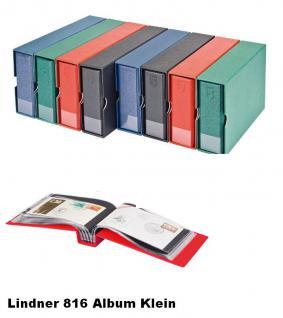 LINDNER 817-R Weinrot Rot FDC - ALBUM im Langformat 240 x 125 mm Für 100 Briefe FDC Postkarten Banknoten - Vorschau 2