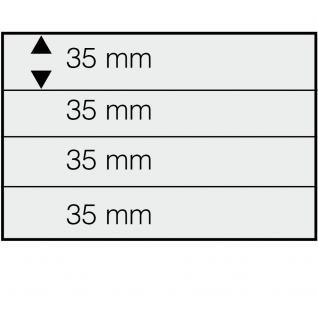 10 SAFE 744 DIN A5 Einsteckkarten Steckkarten Klemmkarten schwarze Folie + 4 Streifen glasklar 35x210 mm - Vorschau 1