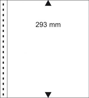 10 x LINDNER 09P Omnia Einsteckblätter weiss 1 Streifen x 293 mm Streifenhöhe Für Aktien & Briefe & Banknoten
