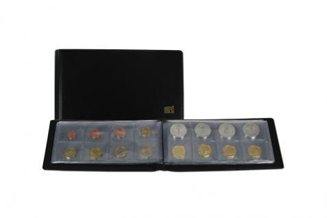 SAFE 763 Taschenmünzalbum Taschen Münzalbum mit 10 Seiten für 80 Münzen bis 40 mm Ideal für Euro KMS