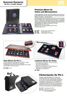 SAFE 7860 Compact Pin's & Sticker Sammelalbum 3 Samttafeln für bis zu 120 Pins Anstecknadeln Button - Vorschau 5