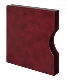 LINDNER 814-W Kassette Schutzkassette Weinrot Rot für Ringbinder 1104 - 2810 - 2815
