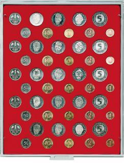 LINDNER 2207 MÜNZBOXEN Münzbox Standard 5 DM Kursmünzen KMS Sätze