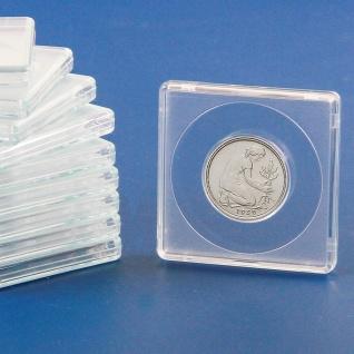 5 x SAFE 3120 Quadratische Münzkapseln Münzdosen Square 50x50 mm glasklar für Münzen bis 20 mm - Ideal für 10 Cent & 2 Pfennig & 10 Mark Kaiserreich Gold & 10 Rubel Alexander II - II Gold