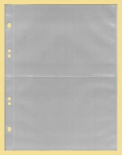 100 x KOBRA G172E Ergänzungsblätter Ersatztaschen 2 geteilt 105x150 mm Für Postkarten & Briefe & Ansichtskarten