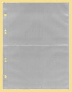 50 x KOBRA G172E Ergänzungsblätter Ersatztaschen 2 geteilt 105x150 mm Für Postkarten & Briefe & Ansichtskarten