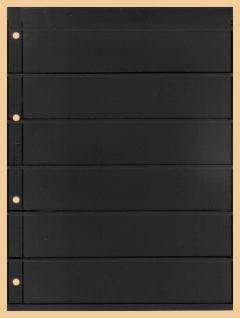 1 x KOBRA E26 Combi Einsteckblätter beidseitig schwarz 6 Streifen 40 x 200 mm Ideal für Briefmarken