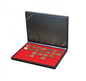 LINDNER 2364-2135E Nera M Sammelkassetten Hellrot Rot 35 Quadratische Fächer 36 x 36 mm für Jetons Poker Chips Roulette Casino