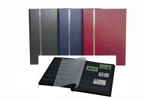SAFE 141-1 Briefmarken Einsteckbücher Einsteckbuch Einsteckalbum Einsteckalben Album im Buchformat A5 Weinrot - Rot 16 schwarzen Seiten - Vorschau 2