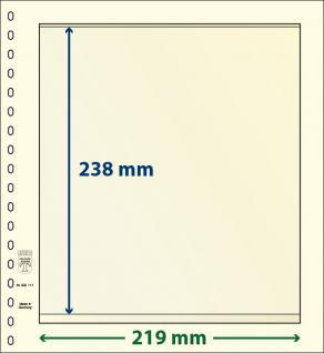10 x LINDNER 802111P T-Blanko-Blätter Blankoblätter 18-Ring Lochung - 1 Tasche 238 x 219 mm