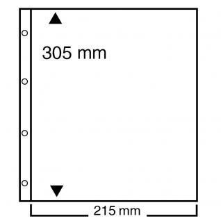 10 SAFE 450 Einsteckblätter Compact A4 - 1 glasklar Tasche 220 x 297 mm Für Postkarten Briefe