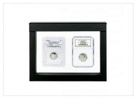 LINDNER S4837 NIMBUS 173 Sammelrahmen Schweberahmen 3D 173x123x27 mm Für Münzen US Slab Münzkapseln