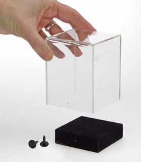 """SAFE 5287 Acryl Präsentations Uhren Vitrinenwürfel """" CUBE M """" Glasklar 100 x 100 x 120 mm Taschenuhren - Vorschau 2"""