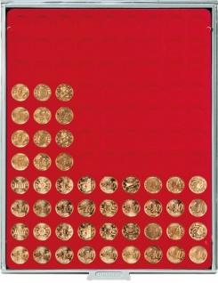 LINDNER 2550E Velourseinlagen Hellrot für Münzbox Münzboxen Kassetten Münzkoffer