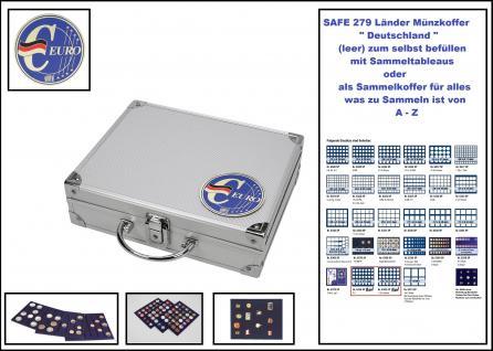 SAFE 279-0 ALU Münzkoffer - Sammelkoffer SMART Deutschland 3D Plakette leer für alles was gesammelt wird von A-Z