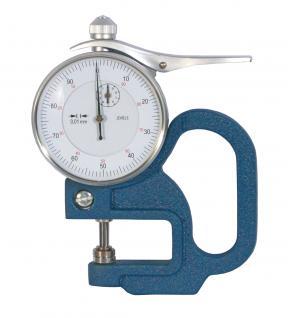 SAFE 9860 Dickenmeßgerät - Dickenmesser - Dickenmessgerät Messgenauigkeit 1/100 mm. Zwischenwerte (5/1000mm) sind ablesbar von Papier und Folie