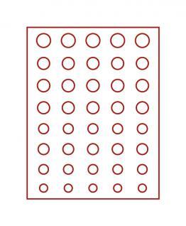 LINDNER 2955 Münzbox Münzboxen Rauchglas 5 komplette Euro Kursmünzensätze KMS 1 Cent - 2 Euromünzen - Vorschau 1