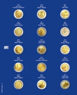 1 x SAFE 7822-19 TOPset Münzblätter Ergänzungsblätter Münzhüllen Münzblatt mit farbigem Vordruckblatt für 2 Euromünzen Gedenkmünzen - 2017