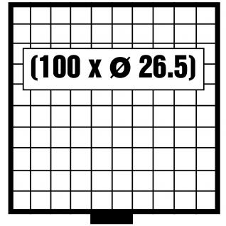 SAFE 6110 BEBA SCHUBLADEN Schuber 100 quadratische Fächer 26, 5 mm für den Maxi MÜNZKASTEN ideal für 2 Euro Münzen