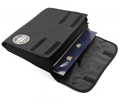 SAFE 197 Sammeltasche Fächertasche mit 8 Fächern Für bis zu 640 Pin's & Buttons & Anstecknadeln