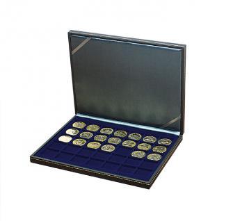 LINDNER 2364-2135ME Nera M Sammelkassetten Marine Blau 35 Quadratische Fächer 36 x 36 mm für Jetons Poker Chips Roulette Casino - Vorschau 1